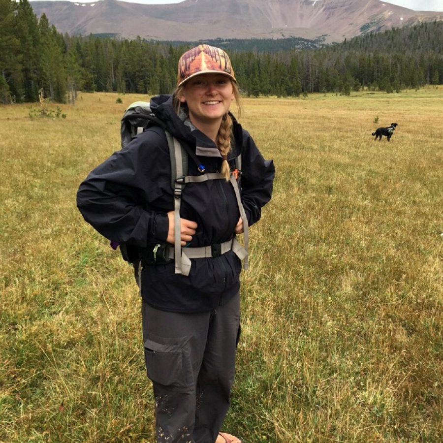 Casey doing field work in the Uinta mountains.