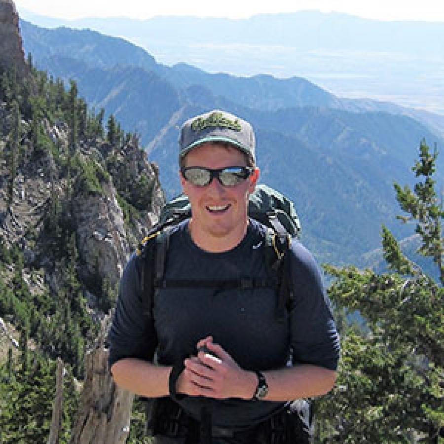 Daniel hiking in the Bear River Range.