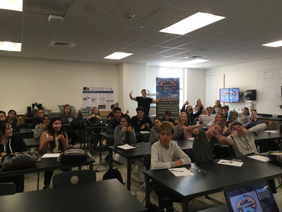 Logan Christian presents at Logan High School in Cache Valley, Utah.