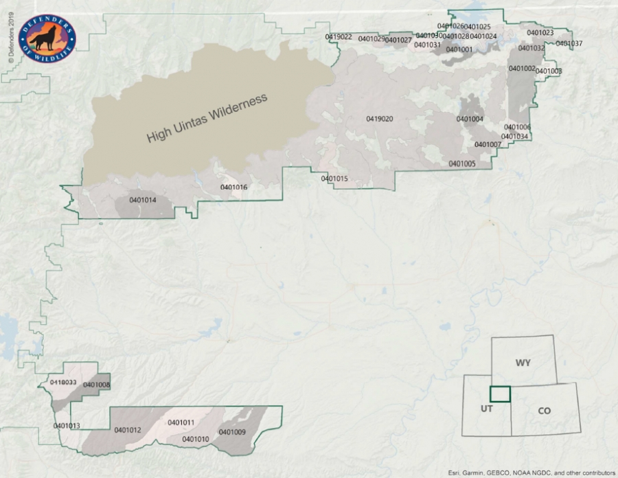 Map of Inventoried Roadless Areas (IRAs)