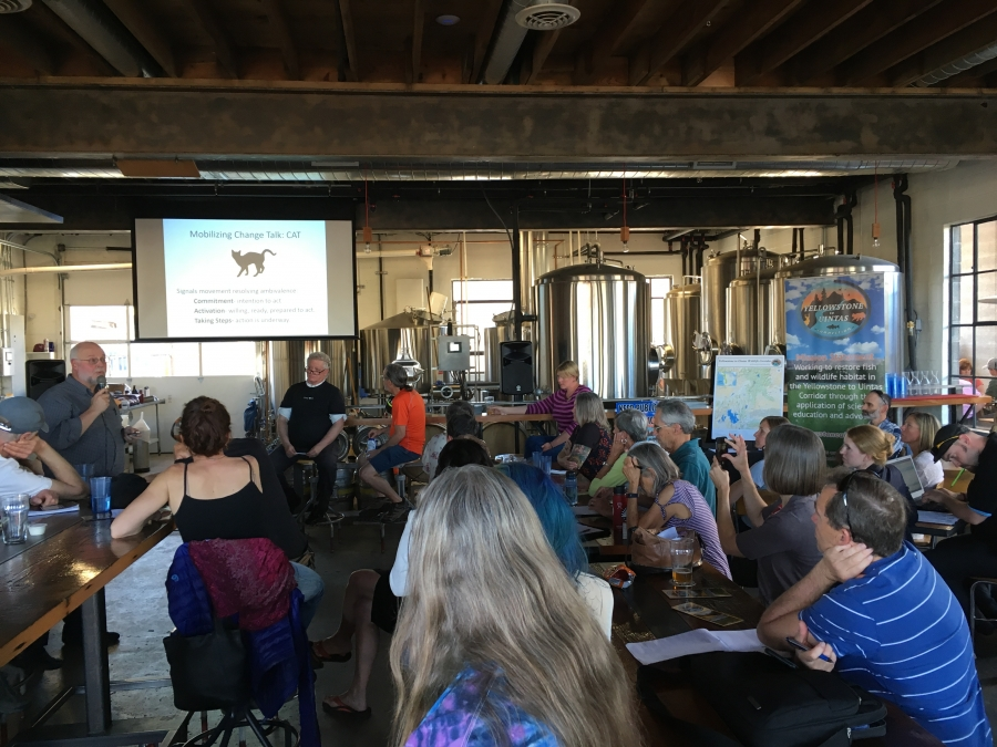 Y2U partnering with friends the Cache Humane Society and Dr. David Christian to host the Successful Activism Workshop at Fisher Brewing in Salt Lake City.