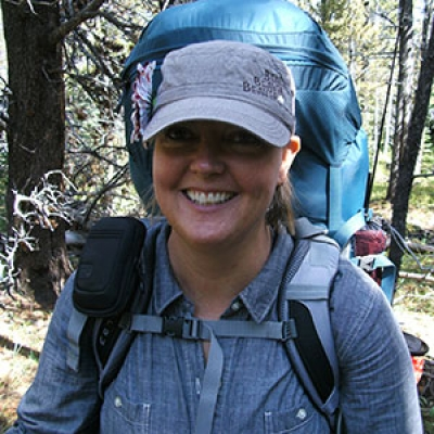 Kandis backpacking in the Uinta mountains.||||